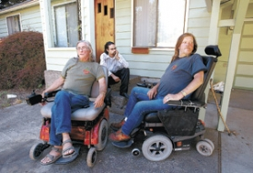 by: L.E. BASKOW, Federal agents raided the home of medical marijuana grower Don DuPay (left, with son Lee and renter Jon Kappelman) last month. The suggestion that users of medical marijuana are criminals or fakers irks radio host and activist Russ Belville.