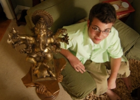 by: Vern Uyetake, Brian Scibetta, 16, believes he hears the voice of God. He uses that ability, he says, to help people find answers to some of their deepest questions.