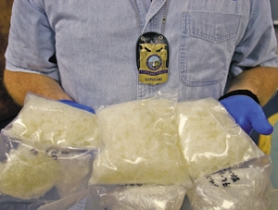 by: JIM CLARK, Police recently seized 2.5 pounds of meth brought to Oregon by a Mexican drug cartel. With meth labs virtually eliminated in the state, some argue it's time to focus on the international supply.