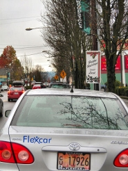 by: Elizabeth Ussher Groff, On December 5th, the Flexcar space on S.E. Woodstock Blvd. at 46th Avenue was vacant all day while the car was in use – but the next morning, at 10:45, this vehicle was back, ready to be picked up by the next Flexcar member in need of this increasingly popular transportation option.
