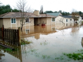 by: Submitted photo, SOGGY SIGHT – One of the photos taken by Pat and Jennifer Moloney when the Nehalem River flooded Vernonia shows their neighborhood under 2 feet of water.