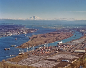 by: Courtesy of Port of Portland, The future of the west end of Hayden Island comes under debate again with the Port of Portland aiming to develop it for marine trade and activists wanting it protected.