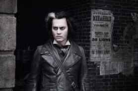 "by: COURTESY OF DREAMWORKS SKG, Under Tim Burton's deft direction, Johnny Depp makes a lot of music, and helps to make a lot of meat pies, in ""Sweeney Todd."""