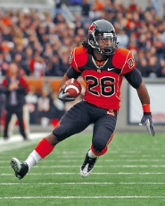 by: COURTESY OF OREGON STATE UNIVERSITY, Yvenson Bernard, Oregon State's second all-time leading rusher, vows he'll be healed in time for the Emerald Bowl.