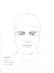 by: contributed graphic, This sketch of the Highway 26 shooting suspect was released Friday, Dec. 21.