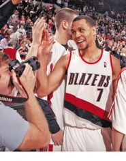 by: SAM FORENCICH, Guard Brandon Roy says the Blazers can make the playoffs, but the road gets tougher with an 11-day span where they play seven road games.