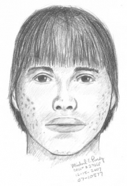 by: Submitted sketch, Police detectives are looking for an Asian or Hispanic male with a  small nose and a pock-marked face. Anyone with information is asked to call 503-629-0111.