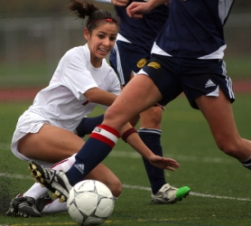 by: JAIME VALDEZ, TOP PLAYER — Sherwood senior Amanda Dutra (left) was named the Class 5A girls soccer Player of the Year.