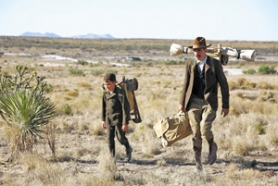 "by: COURTESY OF PARAMOUNT PICTURES, Daniel Plainview (Daniel Day-Lewis, right) and his son (Dillon Freasier) light out for the territories in ""There Will Be Blood."""