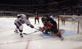 "by: KATIE HARTLEY, Earlier this month, Hawk Radim Valchar shoots against Prince George in a game Portland won 3-1. Coach Rich Kromm says the line of Valchar, Matt Schmermund and Jacob Dietrich has been solid. ""They just work,"" he says."