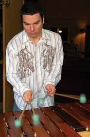 by: Barbara Adams, Estacada resident Brett Paschal will perform his original pieces on a Rosewood marimba made by local marimba maker and artist Peter Bush.