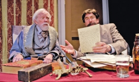 "by: ©2008 JAMIE BOSWORTH, Ulysses S. Grant (Tobias Anderson, left) and Mark Twain (Dave Bodin) have much to discuss in ""A Few Stout Individuals."""