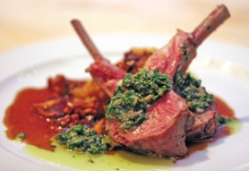 by: KATIE HARTLEY, The rack of lamb also came with a lemon salsa verde and Yukon Gold mashed potatoes.