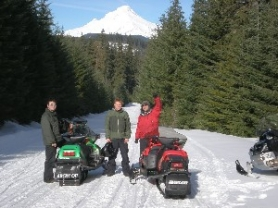 by: contributed photo, Snowmobile and snowshoe trips on Mount Hood during the day can be a wonderful experience, but Mt. Hood Adventure will take people out at night for guided tours under the stars for something a little different.