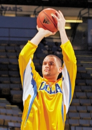 by: VICTOR DECOLONGON, Lake Oswego High product Kevin Love has been every bit the diaper dandy for UCLA in his freshman season. Love returns to his home state this weekend to play the Ducks and Beavers.