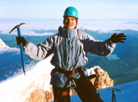 by: Submitted photo, THE SUMMIT — Joe Gstettenbauer of Tualatin stands on the top of Mount Hood during the 2005 Reach the Summit.