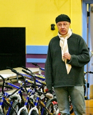 "by: David F. Ashton, ""We're not giving – we're sharing,"" says bike benefactor Dave Yandell of Radio Cab."