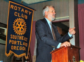 by: , Metro Councilor Robert Liberty, addressing the S.E. Portland Rotary Club in Woodstock on November 19th.
