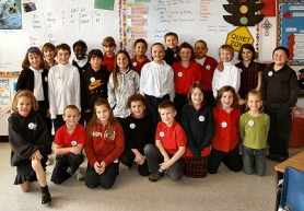 by: , The Third Grade class this year at St. Agatha's