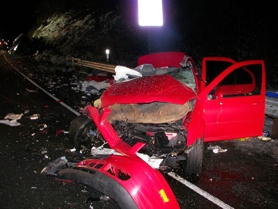 "by: Photo courtesy of the Oregon State Police, Even to a crash-scene veteran like Mark Zawodny, the damage at the fatal accident he encountered earlier this month was shocking. ""I would rate it in the top 10 worst crashes that I've been on,"" said the Forest Grove firefighter."