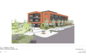 by: Clackamas Community College, Clackamas Community College will demolish its existing single-story building and replace it with this three-story facility this summer Officials say construction will start in June.