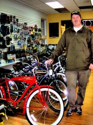 by: Rita A. Leonard, Carey Hopkins is owner/operator of the Brooklyn Bike Shop, a full-service shop recently opened at 3432 S.E. Milwaukie Avenue.