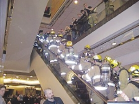 by: Hoodland Fire, Firefighters take to the stairs of the Columbia Center.