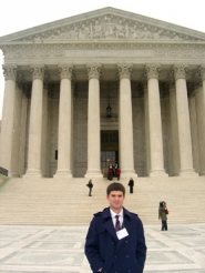 by: Submitted photo, JUSTICE FOR ALL — Tony Rivera got a chance to do a little sightseeing at the U.S. Supreme Court.