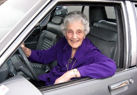 "by: Barbara Sherman, STILL DRIVIN' AFTER ALL THESE YEARS – Margaret Pearson, who turns 100 today, just got her driver's license renewed so she can drive her 1989 Chevrolet Classic Capri ""that looks like a Cadillac"" around Summerfield."