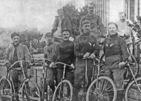 by: Courtesy of Multnomah Athletic Club, Multnomah Athletic Club members formed the Early Birds cycling group a century ago.