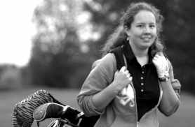 by: Dave Ball, Sandy's girls golf team will be led by Becky VanAusdell.