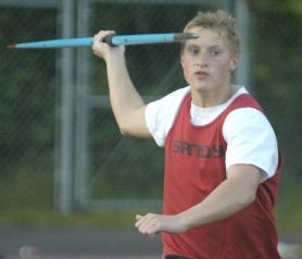by: Dave Ball, Colton Safely returns with a strong chance to advance to state in the javelin.