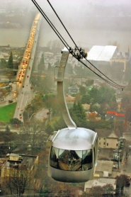 by: L.E. BASKOW, The tram saw almost 1.4 million riders in its first 12 months, with 90 percent of the rides OHSU-related: employees, students, patients or patients' families riding between the  campus on Marquam Hill and OHSU's buildings in South Waterfront.