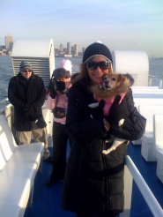 by: contributed photo, Abbygail and her owner, Terri Lynn Link, take a cruise around Manhattan Island while in New York City for ToyFair last month.