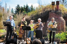 by: photo courtesy of McMenamins Edgefield, Julie McCarl and Friends performs at last year's St. Patrick's Day event at McMenamins Edgefield.