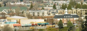 by: John Klicker, The mix of eras is obvious in this view of downtown Gresham over Main City Park. A new downtown development plan that includes an architectural review board is meant to help the city maintain its character while it modernizes.