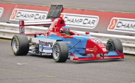 by: ©2008 JEFF ZURSCHMEIDE, Devin Cunningham won the Star Mazda race at last year's Champ Car event. This year, the Star Mazda series will be the anchor event of the weekend.
