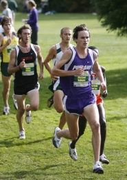 by: ©2008 WILL CREW, Running to prepare himself for the outdoor season, Michael Kilburg of the University of Portland placed sixth in the indoor 3,000 meters last month in Arkansas.