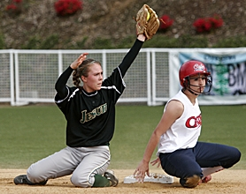 by: MILES VANCE, FOR THE DEFENSE — Jesuit senior shortstop Ali Junnell (left) hopes to lift her team to another strong Metro League and state playoff run in 2008.