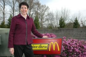 by: Sam Bennett, Mindy Mayer, owner of McDonalds' on Hwy. 43 in West Linn, lost three generations of her family in a plane crash last summer. She recently held a fund-raising event at the restaurant to help a 3-year-old battling cancer.