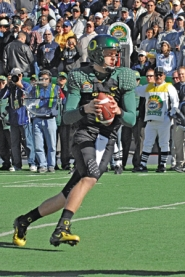 by: ©2008 BRIAN KANOF, Duck Justin Roper, who showed promise at the Sun Bowl, has competition  at quarterback from five others, including front-runner 