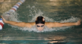 by: ©2008 DENNIS WOLVERTON, Oregon State junior Saori Haruguchi won the 200-yard butterfly at the NCAA nationals in Columbus, Ohio, last week.