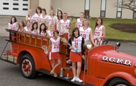 by: submitted photo, The Oregon City Pioneers have high aspirations heading into the heart of the 2008 high school girls lacrosse season, and with good reason. They return nine starters from last year's team that placed second at state.