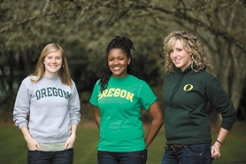 by: Chase Allgood, Emily McLain (left)  and Kari Herinckx (center) preceded fellow Viking Ella Barrett (right) as leaders at the University of Oregon. Forest Grove native Tracy Zapf (not pictured) is also involved in student government.