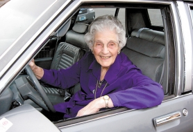 by: Barbara Sherman, Summerfield resident Margaret Pearson, who turned 100 on March 6, recently got her driver's license renewed.