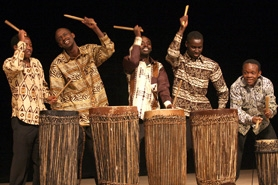 by: Jaime Valdez, Rwandan group Hindurwa performed during an assembly at Jesuit High School Wednesday morning.