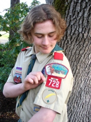 by: Jessie Kirk, T.J. LaGrow was honored Monday at a ceremony Monday night for reaching the highest achievement in Boy Scouts.