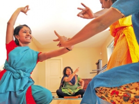 "by:  JIM CLARK, Sivagami ""Shivy"" Vanka teaches Indian dance in her home to students such as Jahnavi Ramanathan (left), 17. Neighbors rallied against the practice, however, collecting signatures, photographing visitors and jotting down their license plate numbers."