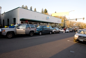 by: Chase Allgood, A four-car pileup in Forest Grove took center stage during Wednesday night's First Wednesday festivities. No one was seriously hurt in the chain-reaction fender bender.