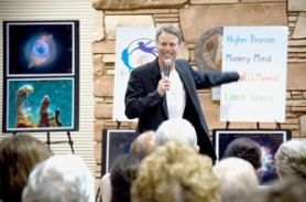 by: Contributed graphic, The Rev. Michael Dowd gives one of his talks on the story behind the creation story — evolution.